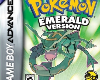 POKEMON EMERALD GBA gameboy advance game *authentic* not a repro!