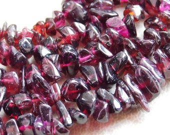 """1. Strand 16"""" Garnet Rough Beads """"Polished"""" 10X6 To 6X5 MM Approx 100% Natural Finest AAA Quality Wholesale Price New Arrival"""