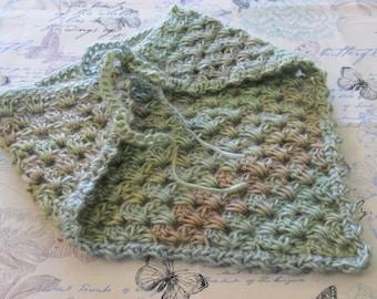 Earth Tone Crochet Kerchief