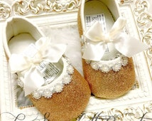 Copper/Rose Gold  Princess Baby Girl Shoes,Toddler Shoes