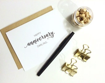 Anniversary Card - Happy Anniversary, Darling. | Love Card, Wedding Anniversary Card, Dating Anniversary Card, Husband Card, Wife Card