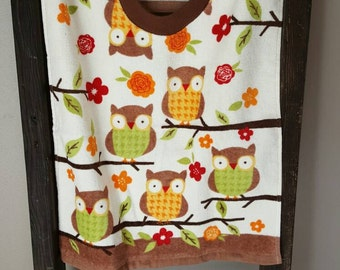 Owl Towel Bib