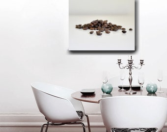 Large Food Wall Art Coffee Bean Modern Kitchen Canvas Wrap Dining Room