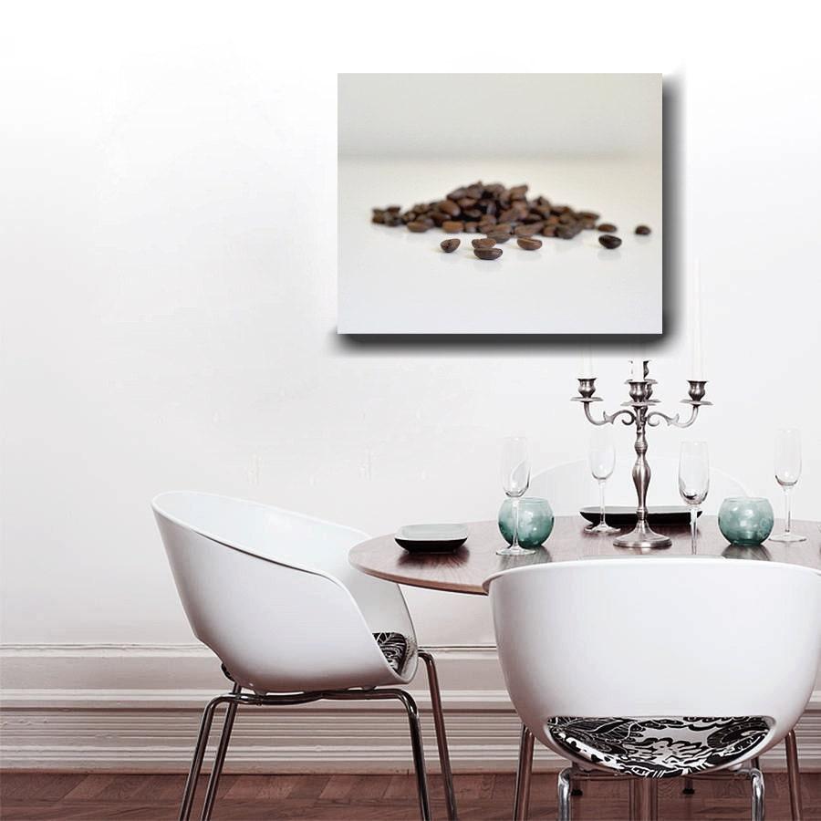 Large Food Wall Art Coffee Bean Art Modern Kitchen Canvas