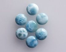 6MM Round Shape, Dominican Larimar Calibrated Cabochons, AG-201