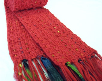 "Handwoven scarf - ""Heliconia"""