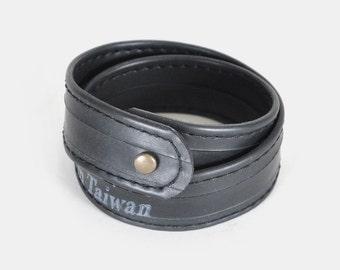 Reclaimed Bike Inner Double Wrap Bracelet
