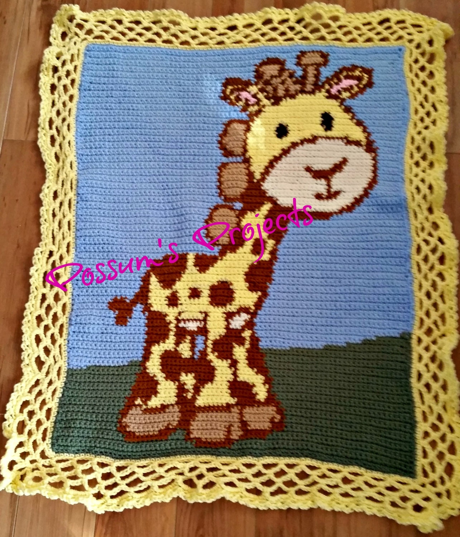 Baby Giraffe Baby Blanket Pattern