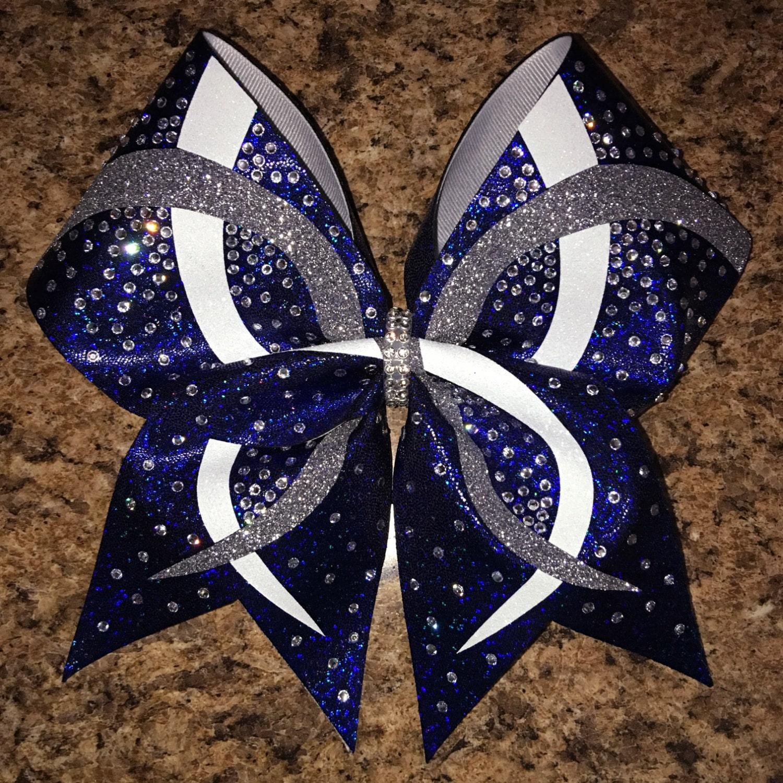 Custom infinity design rhinestone cheer bow available in any