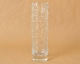 Gral glass - Emil Funke - clear glass vase - Gral glashütte - Mid Century Modern