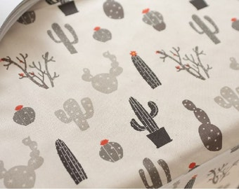 Oxford Cotton Fabric Cactus By The Yard