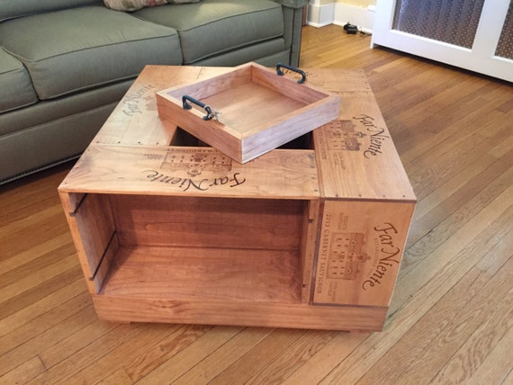 Wine crate coffee table for Coffee table made out of wooden crates