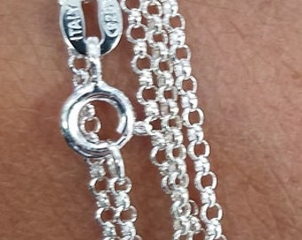 Mini Rolo Chain, Sterling Silver, Ready to Wear, Italy, 1.4mm