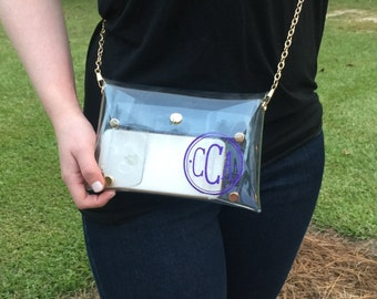 Personalized Stadium Approved Clear Purse