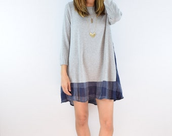 Sale Check Trimmed A Line Tunic