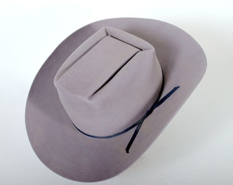 Grey Cowboy Hat with Brick Crown