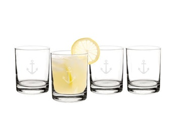14 oz. Anchor Drinking Glasses (Set of 4)