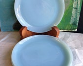 "1950's Fire King Turquiose Blue Salad Plates 6 1/8"" dia in MINT Condition"