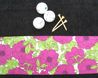 Ladies Golf Towel, Women Velour Terry Golf Towel, Golfer Gift, Sports Towel, Golf Bag Towel, Mothers Day Gift