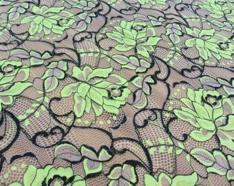 Stretch lace fabric,floral lace for dress,Pink lace,blue lace,Fluorescent yellow lace