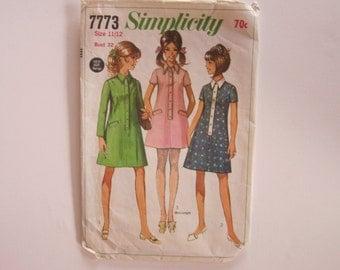 1970s shirt dress pattern