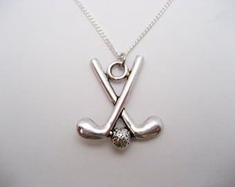 Golf necklace golf jewelry golf gift golf club gift golfer golf necklace golf clubs necklace sports necklace sports jewelry golf jewelry team gift ideas golfer gift aloadofball Images