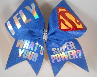 Cheer Bow iFly Whats Your SUPERPOWER ?  by BlingItOnCheerBowz