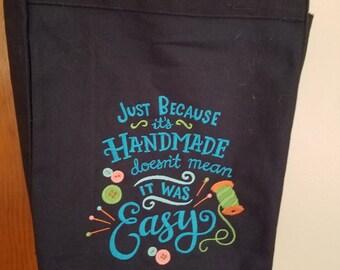 Machine Embroidered Tote Bag
