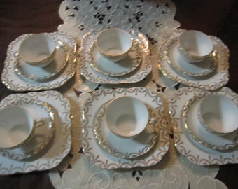 Plates by Victoria Made in Czechoslovakia Fine China
