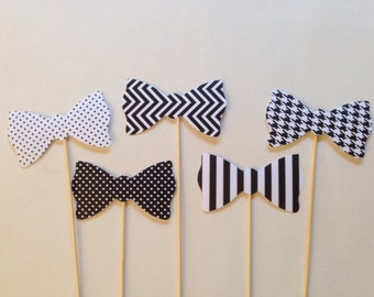 Preppy Bow Ties Photo Booth Prop Wedding Props ,Birthday Party Photo Booth  Set of 5