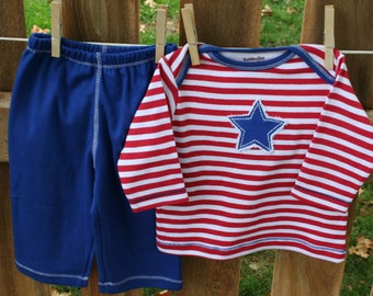 stars and stripes pant set- boys pant set- red white and blue, baby gift, clothing sets