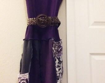 Gorgeous,1x,purple,upcycled,plus,womens,dress