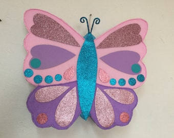 Butterfly pinata, butterfly birthday party