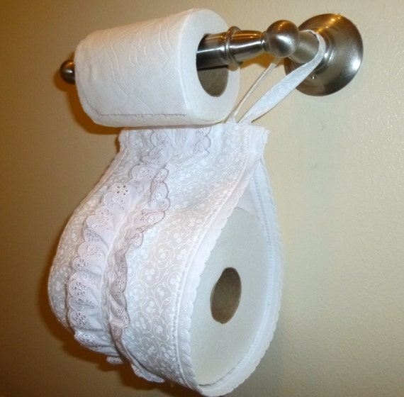 Fabric Toilet Paper Holder Spare Roll Toilet Paper Holder