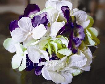 Wedding Centerpiece Hydrangea Flowers   Blended Hydrangea Stem   Artificial Hydrangea   Wedding Hydrangea   Weddings Floral Decorations