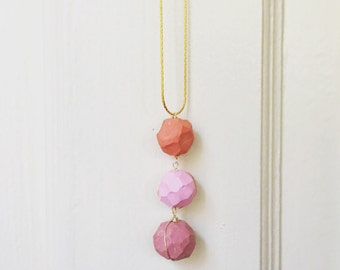 3-Bead Layering Necklace