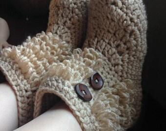 Fuzzy Bootie Slipper - Adult size 6-11