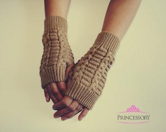 Knit Fingerless Gloves, Arm Warmers Long, Hand Warmers, Womens Gloves, winter gloves, christmas gift, crochet fingerless gloves