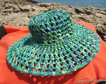 Crochet Summer Hat, Women's Sun Hat, Crochet Hat With Brim, Floppy Beach Hat, Hand Crochet Sun Hat , Wide Brim Hat, Crochet Summer Gifts