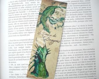 Bookmark green dragon