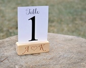 10 Personalized Wood Table Number Holders for Wedding and Party, Custom DIY Rustic Table Number Holder, Cafe, Restaurant Table Number Holder