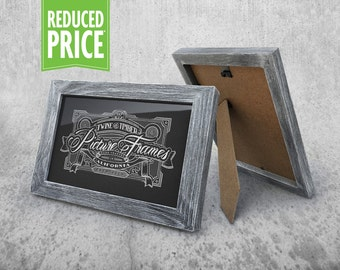 Rustic Picture Frame - Weathered Grey