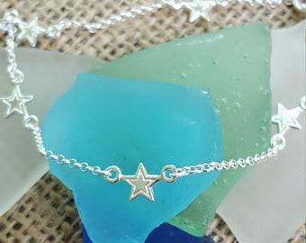 Star Anklet - 925 Sterling Silver