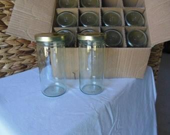 12 new  8-0z jars with lids