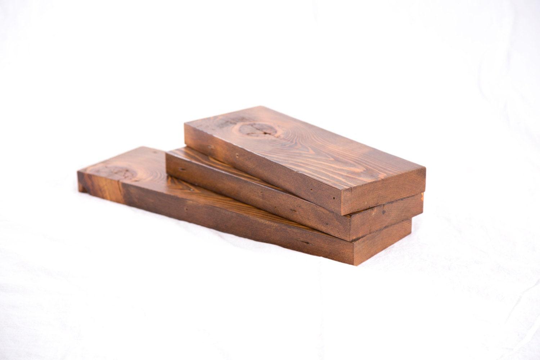 Reclaimed Wood Shelving Set Three Reclaimed Wood Shelves