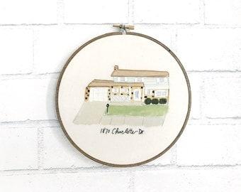 """Shop """"house portrait"""" in Fiber Arts"""