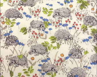 Cotton Fat Quarter Makower Hedgehogs on Cream