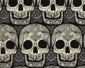 Skulls Fabric Fat Quarter, Half Yard, or By-The-Yard; C4579; Novelty Fabric; Timeless Treasures