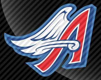 Anaheim Angels Throwback Decal Sticker 4 Color
