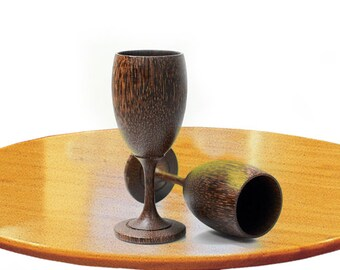 Wine Glass (Palm Wood) Wooden Wine Glasses.